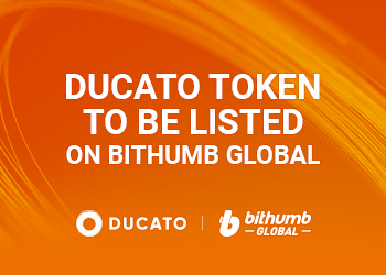 DUCATO TOKENS TO BE LISTED ON BITHUMB GLOBAL